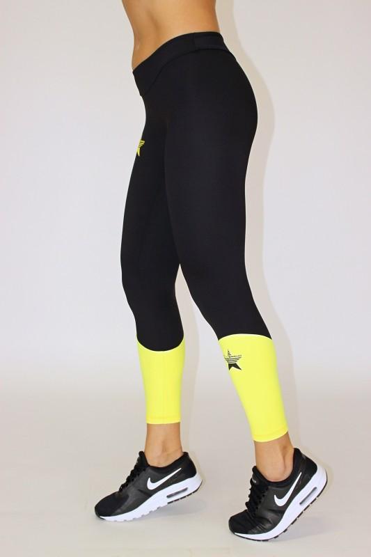Irina Legging Black&Yellow Women 39,00 €