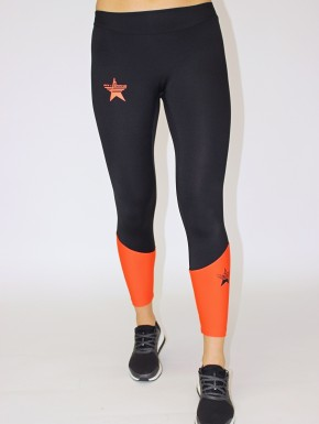 Irina Legging Black&Coral Red