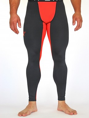 DAKALA LEGGINGS - Black&Coral Red