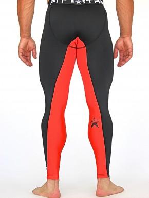 DAKALA LEGGINGS - Black&Coral Red
